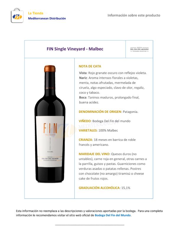 FIN Single Vineyard Malbec