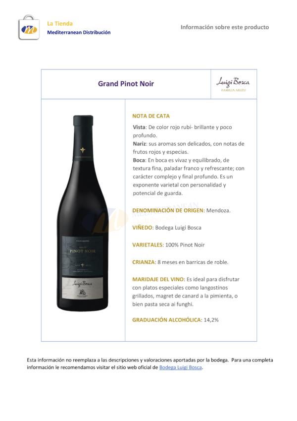 Luigi Bosca Grand Pinot Noir